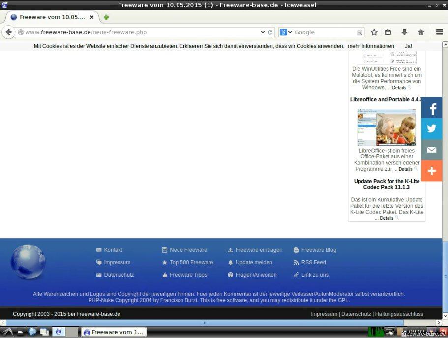 Vorschau Debian Live System LXDE - Bild 4