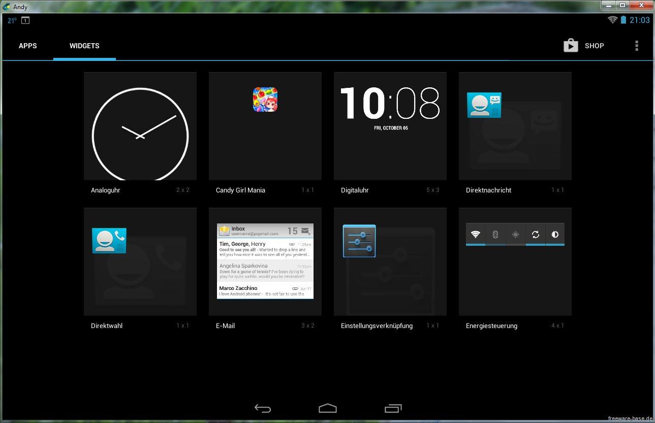 Vorschau Andy Android Emulator - Bild 4