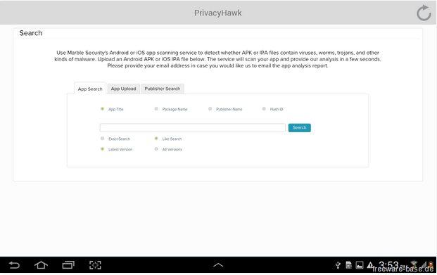 Vorschau PrivacyHawk fuer Android - Bild 4