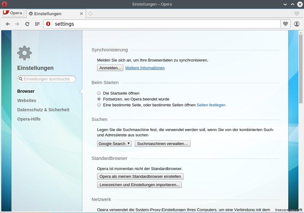 Vorschau Opera für Linux - Bild 4