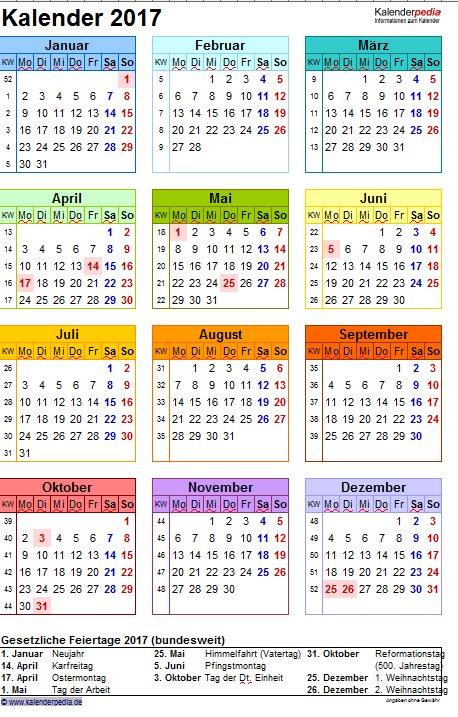 Vorschau Excel Kalender Paket - Bild 4