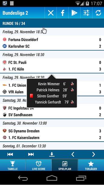 Vorschau Bundesliga 2 für Android - Bild 4