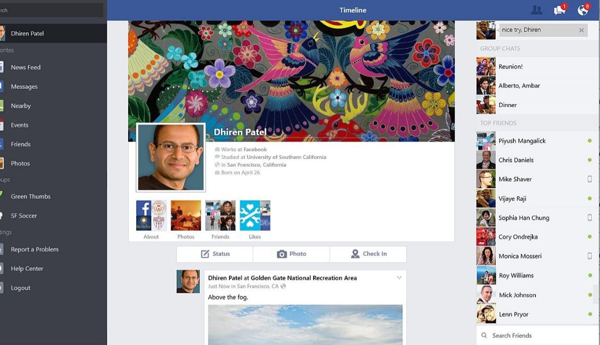 Vorschau Facebook für Windows 8 und 10 App - Bild 4