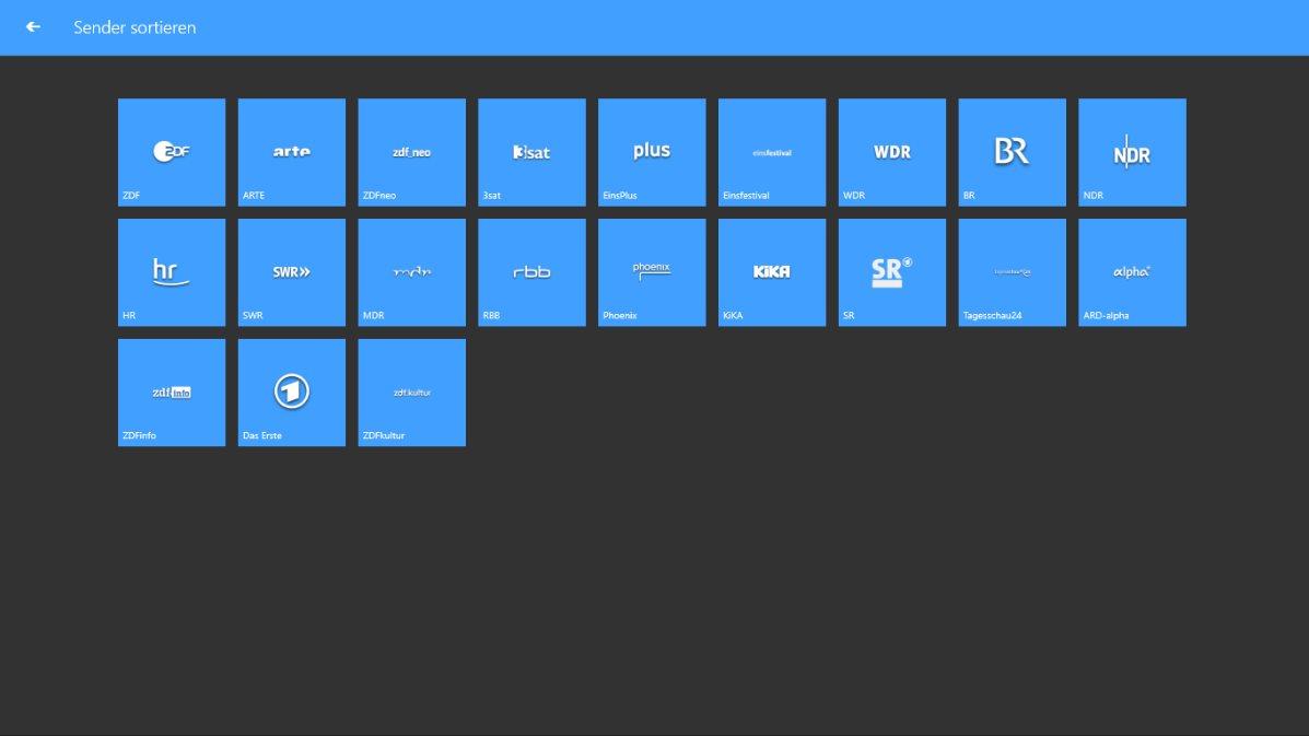 Vorschau TV App Live Fernsehen fuer Windows 8 und 10 App - Bild 4