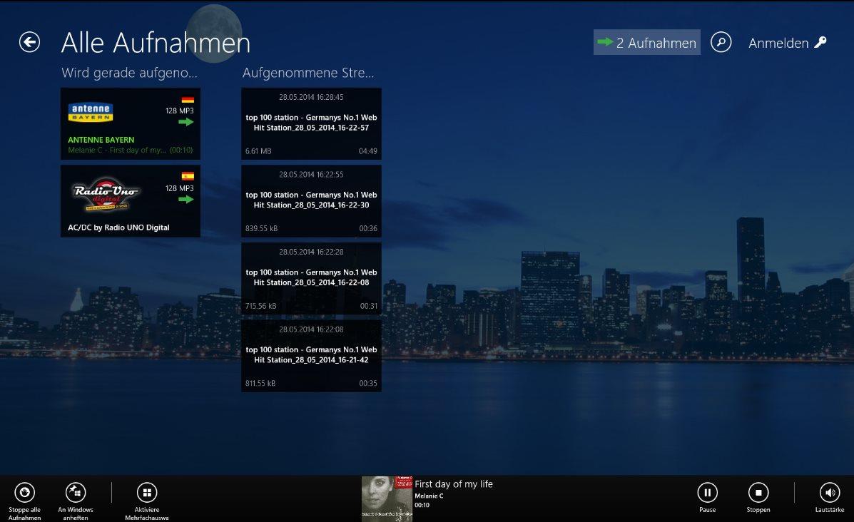Vorschau Audials Radio fuer Windows 8 und 10 App - Bild 4