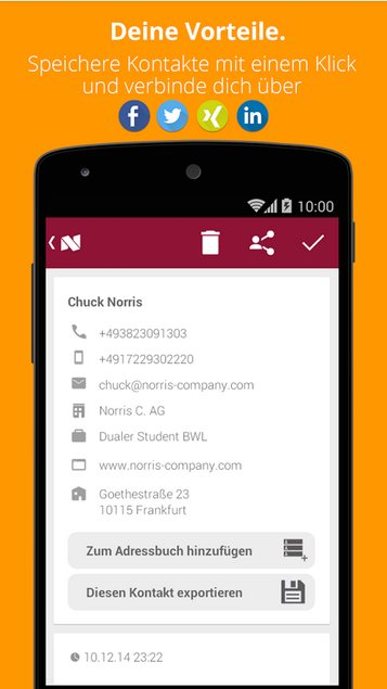 Vorschau Nimple - Networking Simple fuer Android - Bild 4