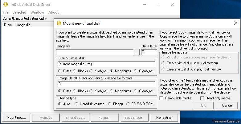 Vorschau ImDisk Toolkit - Bild 4