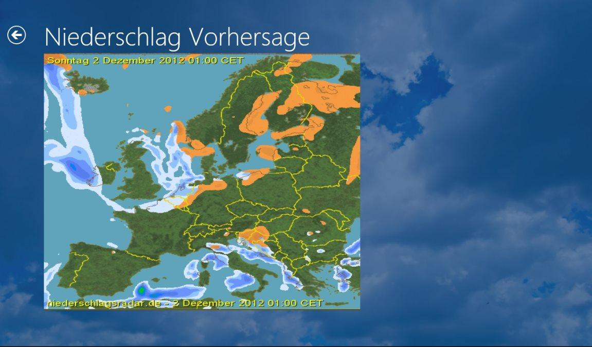 Vorschau Niederschlagsradar fuer Windows 8 und 10 - Bild 4