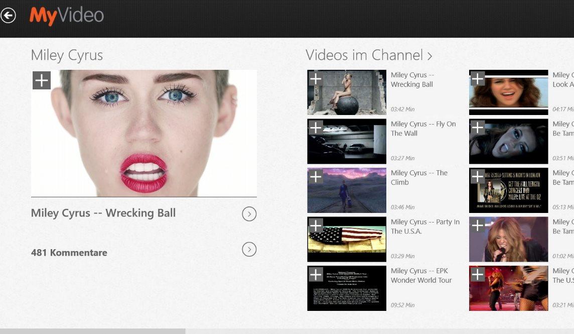 Vorschau MyVideo fuer Windows 8 und 10 - Bild 4