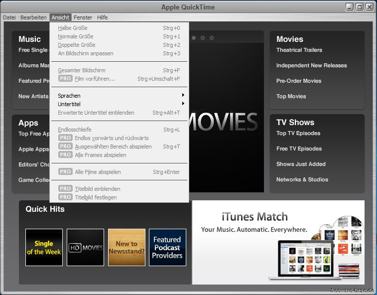 Vorschau Apple QuickTime fuer Win Vista bis Win 10 - Bild 4