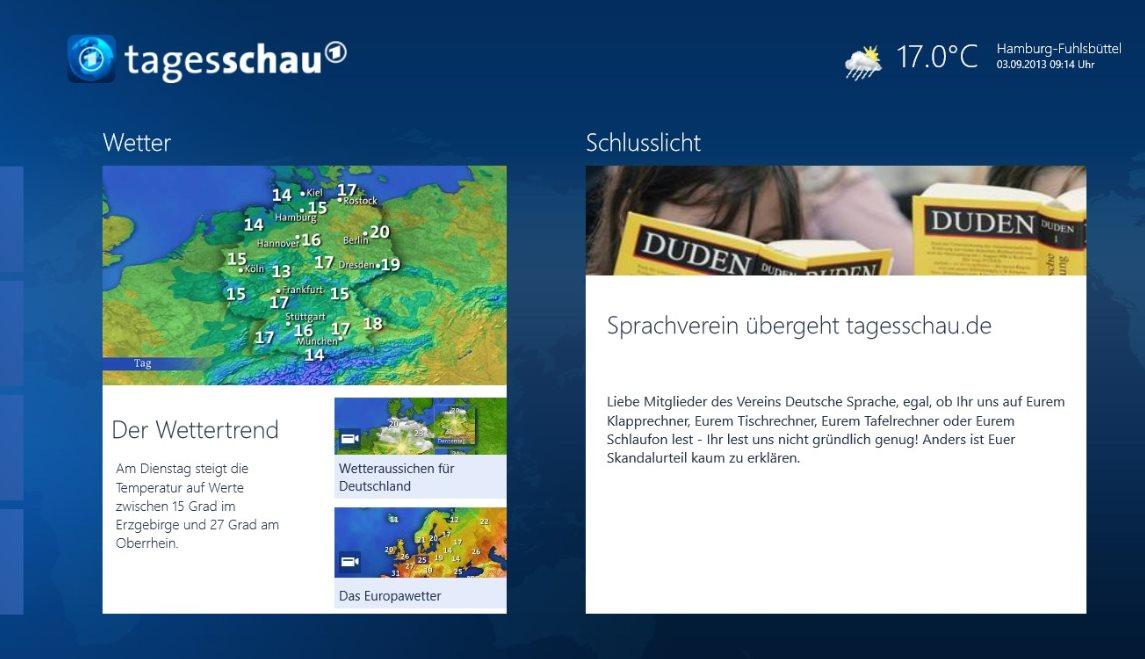 Vorschau Tagesschau fuer Windows 8 und 10 - Bild 4