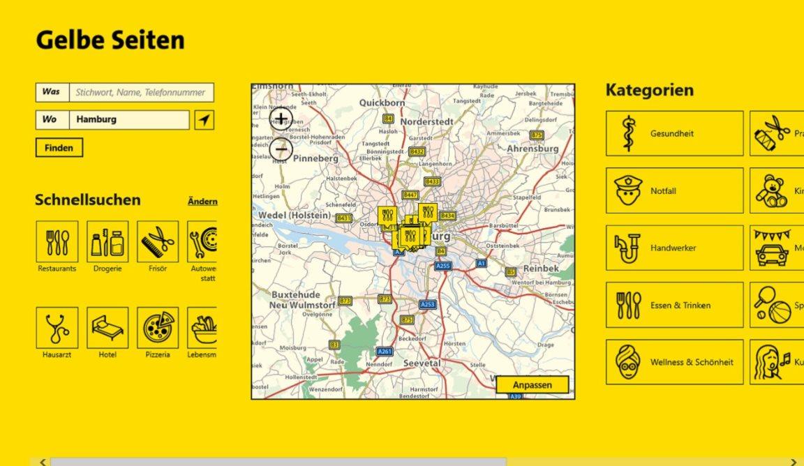 Vorschau Gelbe Seiten fuer Windows 8 und 10 - Bild 4