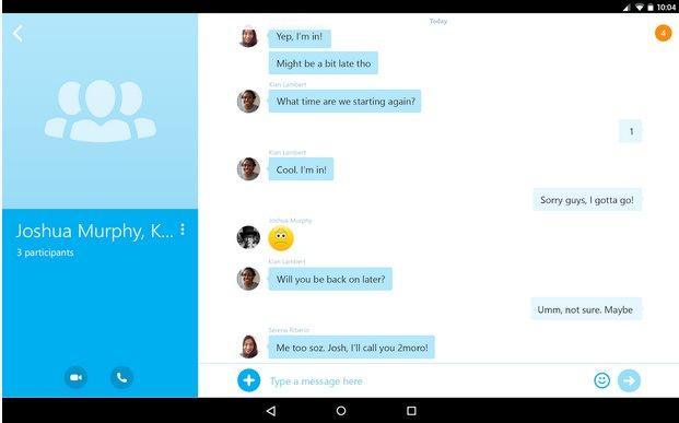 Vorschau Skype für Android - Bild 4