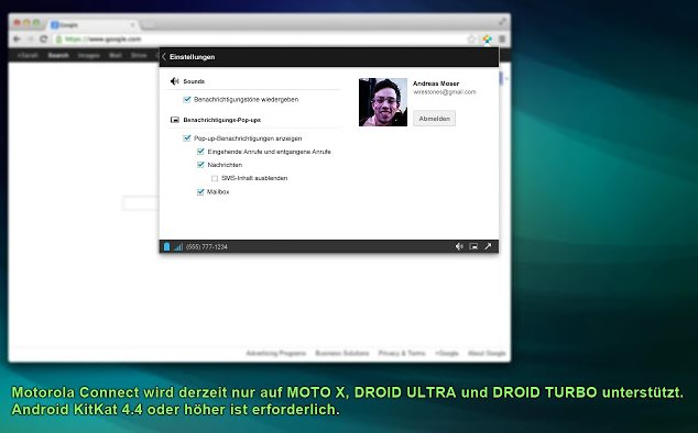 Vorschau Motorola Connect für Chrome - Bild 4