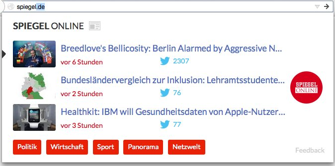 Vorschau Cliqz für Firefox - Bild 4