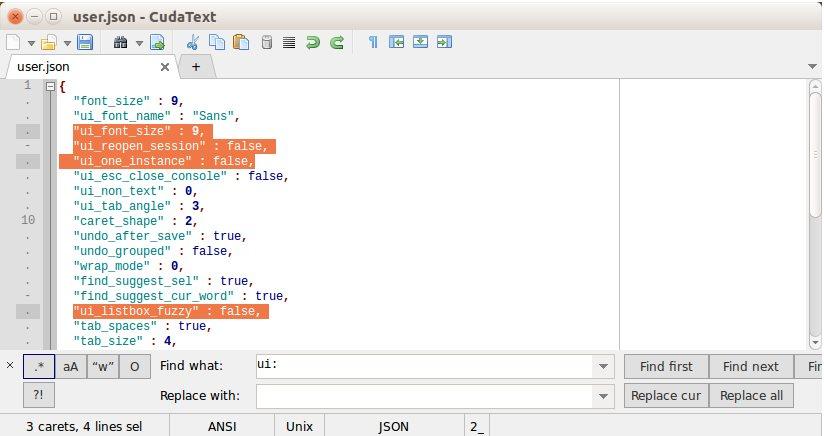 Vorschau CudaText - Text Editor - Bild 4
