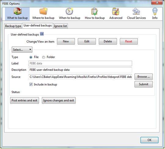 Vorschau Environment Backup für Firefox - Bild 4
