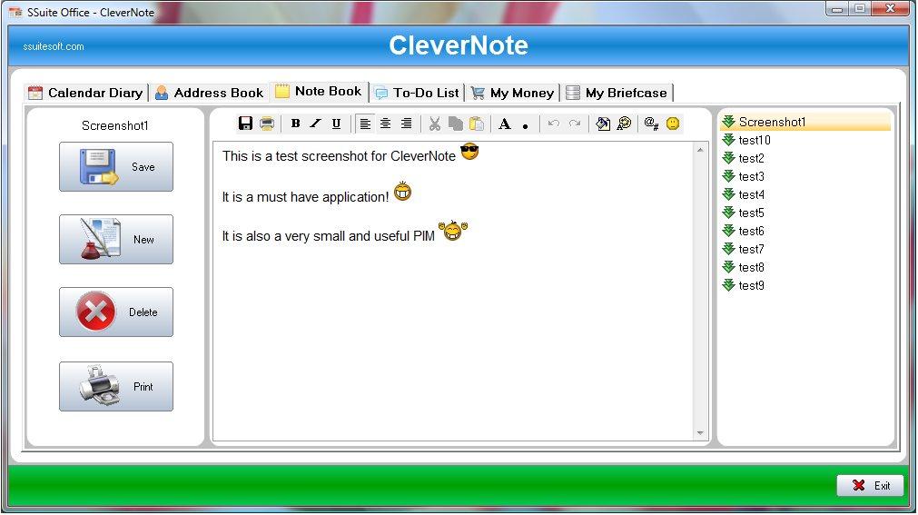Vorschau SSuite CleverNote PIM - Bild 4
